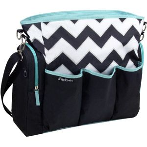 iPack Diaper Bag, Chevron...if baby is a boy, I might have to do this. My diaper bag is VERY girly!