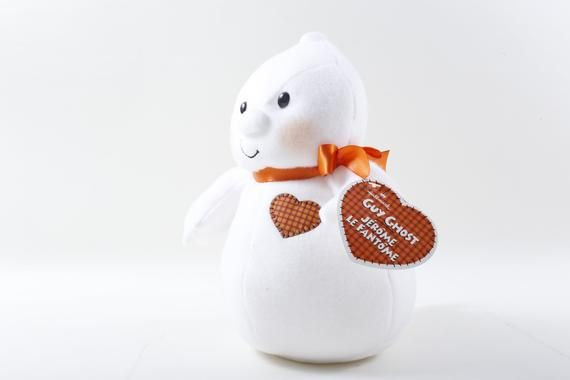 Festa De Halloween 2020 Em Jerome Guy Ghost Jerome Le Fantome White Red Ribbon Heart Soft Plush Doll
