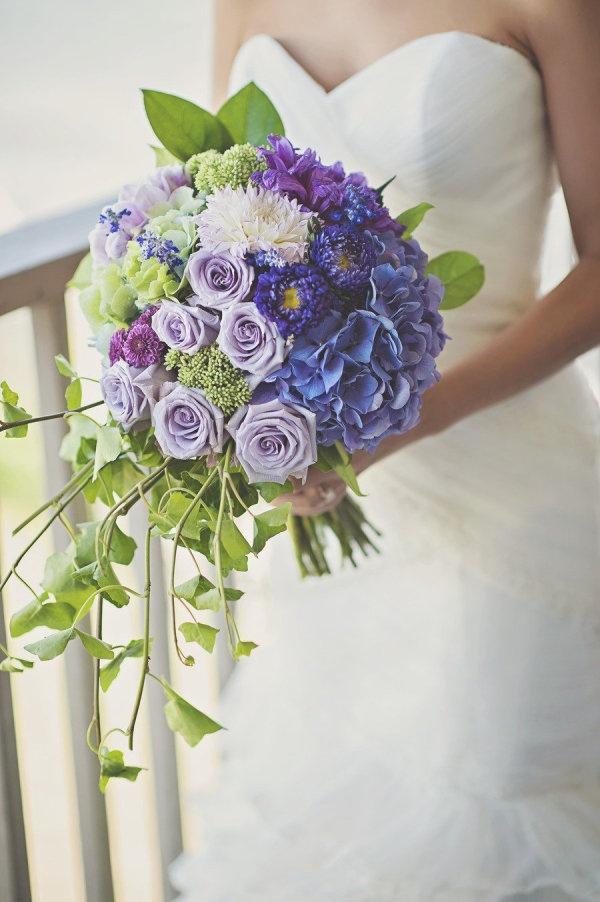 Purple. Photography by loveandperry.com, Floral Design by Eileen Muller