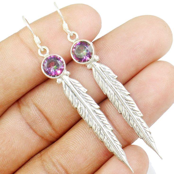 Mystic Topaz 925 Sterling Silver Earring Allison Co Jewelry E-4 #Allisonsilverco