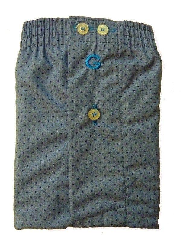 #Boxer de tela #Giulio - Tela Taito - Cinturilla elástica, logo bordado en la parte frontal y petrina cerrada por un botó - Parte posterior en una pieza completa - Ref: 3070 C360.  #calzoncillos #hombre #modahombre #moda #ropainterior http://www.varelaintimo.com/marca/10/giulio