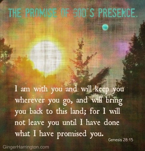 Genesis 28:15 God is with us