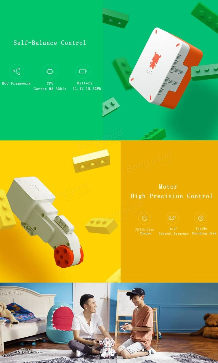 Xiaomi MITU DIY Mobile Phone Control Self-assemble Robot for Kids Toy Gift Sale - Banggood.com