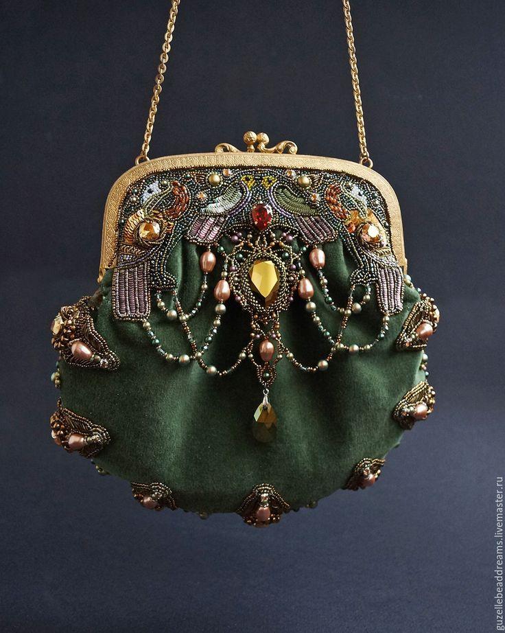 Купить Сумочка Kells - оливковый, средневековье, средневековая вышивка, book of kells, искусство средневековья