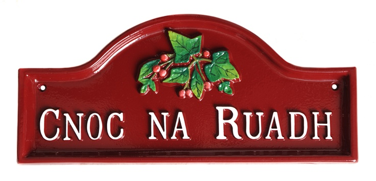 We don't know what this means, but we loved carefully hand painting this pretty red house sign in quality enamel paints.
