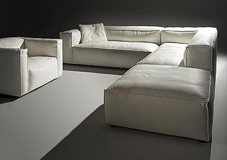 En deze wil ik graag in mijn woonkamer. Hoekbank Summer met brede of smalle arm van l'Ancora.