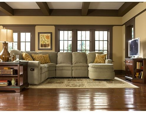 Green Interior Trim Adds Interest And Depth To This Space.