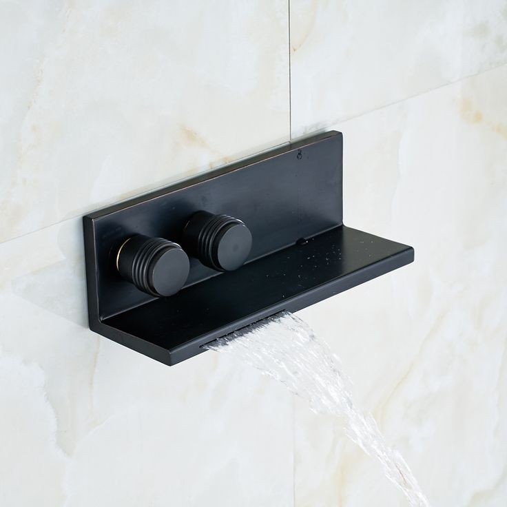 Traditional Style Oil Rubbed Bronze Finished Wall Mounted Bathtub Faucet Double Handle Mixer Tap - ICON2 Luxury Designer Fixures  Traditional #Style #Oil #Rubbed #Bronze #Finished #Wall #Mounted #Bathtub #Faucet #Double #Handle #Mixer #Tap
