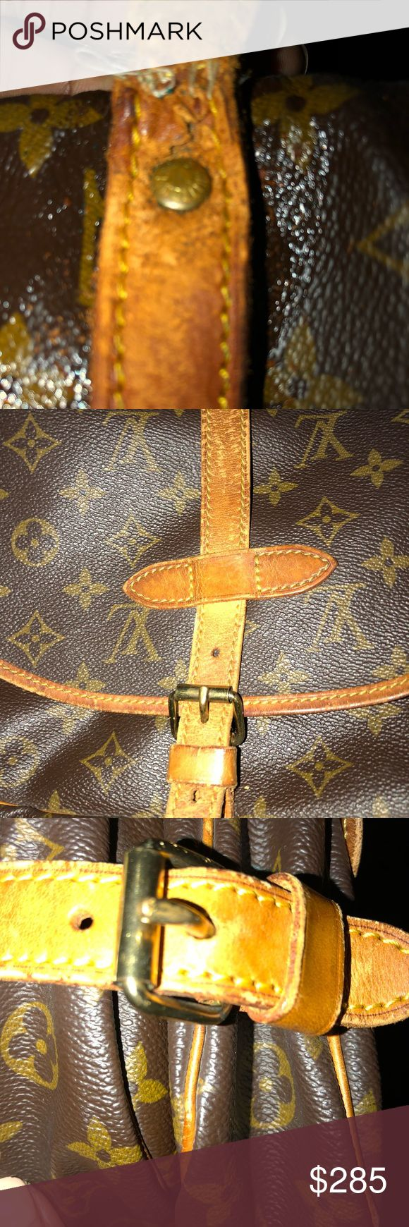 Louis Vuitton Saumur 30 gently loved pre owned Louis Vuitton Saumur 30 **A DEAL**! This bag is gently loved. I have repaired the handle that was pulling away from the seems. I have included a pic. You can not see this unless you really look for it while the bag is open (has two sides)   These bags are popular and this price is very low for this type of bag. Louis Vuitton Bags Crossbody Bags