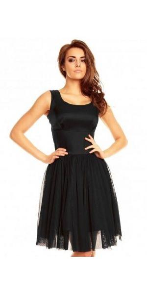 Nowość na karnawał balowa sukienka z tiulową spódnicą KM130 Czarny http://www.planetap.pl/kartes-moda-m-6.html