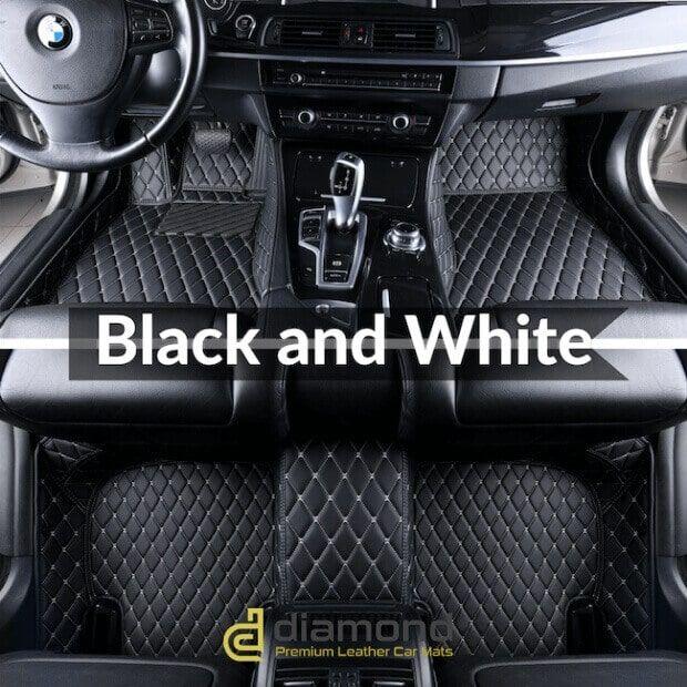 Black And White Stitching Luxury Car Mats Set Car Mats Car