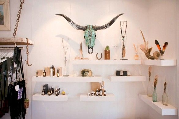 Spell and The Gypsy Collective began as a market stall pop-up featuring custom-made accessories by Elizabeth and Isabella Briedis. The sisters' boho-vibe accessories were such a hit that they opened their retail store Spell and The Gypsy Collective in Byron Bay shortly thereafter - 15 Coolest Concept Stores From Around the World via @mydomaine