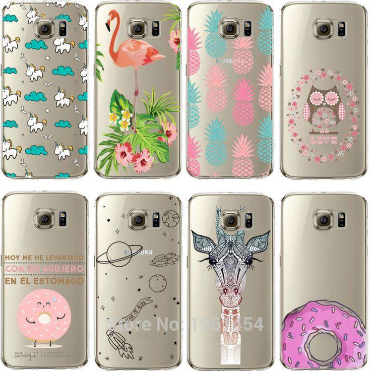 Ananas unicorn flamingos ciambella meraviglioso design morbido case cover per samsung galaxy s5 s6 s7 s6edge s7edge j510 j710 a310 A510