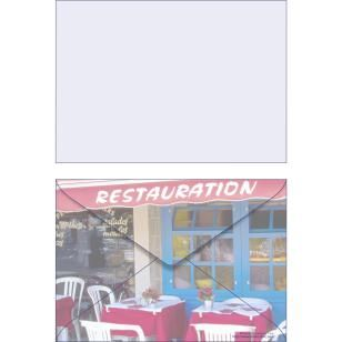 Photo ISO C6 scenery0005,Envelopes ,Card,blue,multi-purpose,photograph,C6 size envelope,Honfleur,table ,Meal,restaurant