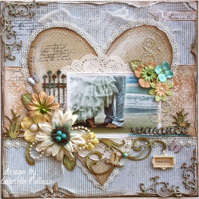 wedding scrapbook pages | wedding scrapbooking page