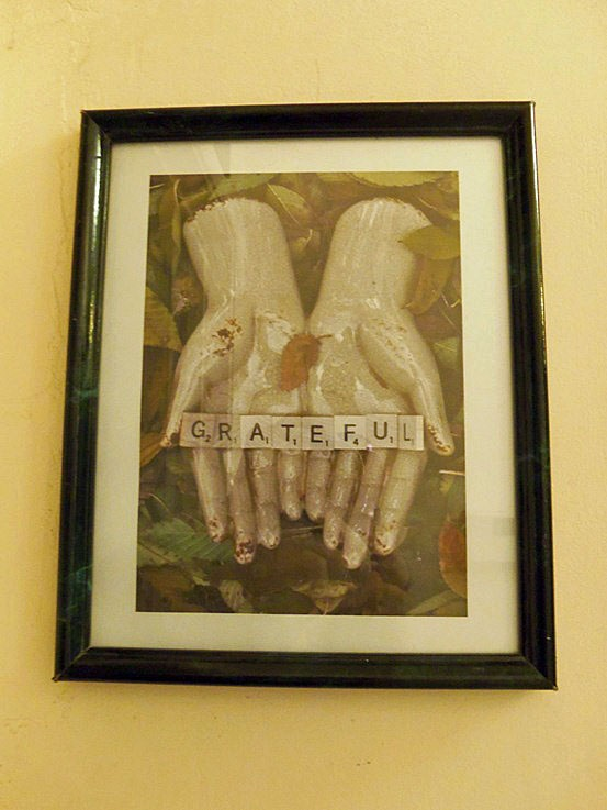 """Have you seen this picture?  It's on my """"This & That"""" board.  It's now hanging in the hall.  I started my gratitude journal on the 1st and I'm doing pretty well!"""