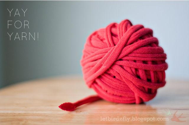 How to Make T-Shirt Yarn - Let Birds Fly
