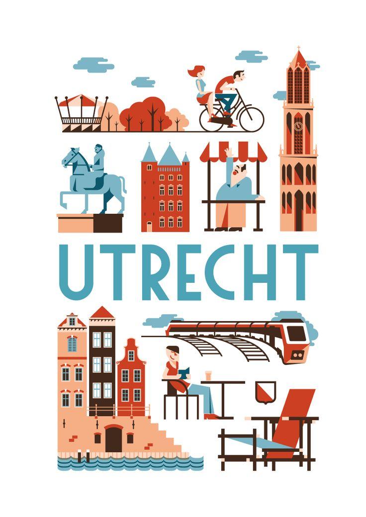 Poster Utrecht (meer steden in de maak)
