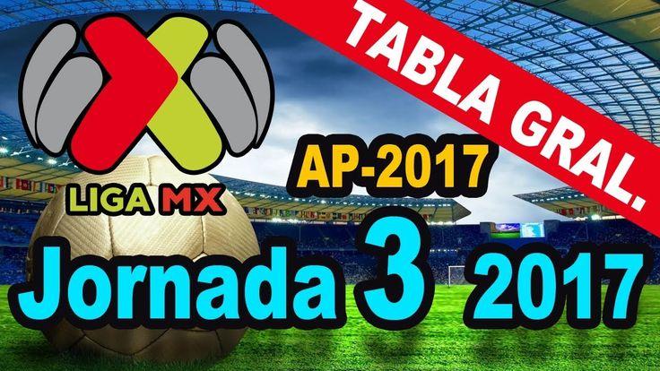 Tabla General y Resultados Jornada 3 Liga MX Apertura 2017 ⚽  Quiniela MX