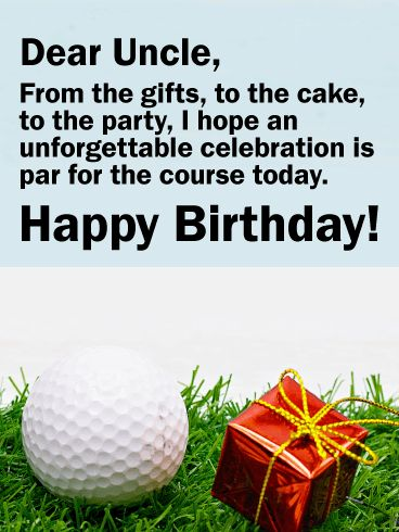 44 best birthday cards for uncle images on pinterest 100 free golf themed happy birthday card for uncle make sure your uncles birthday is a hole in one this year by sending a fun golf themed card bookmarktalkfo Gallery