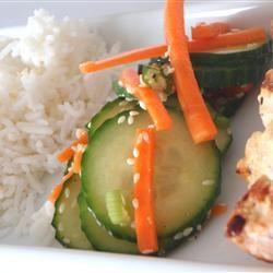 Korean Cucumber Salad Allrecipes.comSpicy Korean, Salad Recipes, Korean Cucumber, Iii Recipe, Cucumber Salad, Salad Allrecipescom, Korean Meals, Healthy Food, Foodies Cities