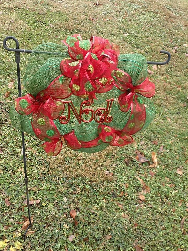 I made this small wreath for my sister's grave...it held up wonderful in all the December rain & wind we had....miss her so much!