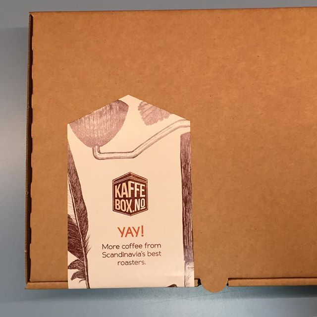 KaffeBox ships today!! Sign up today and youll be included in todays shipment.  Shipping worldwide from Norway with  #kaffebox #coffeesubscription #coffeebox #spesialkaffe #specialtycoffee #blackcoffee