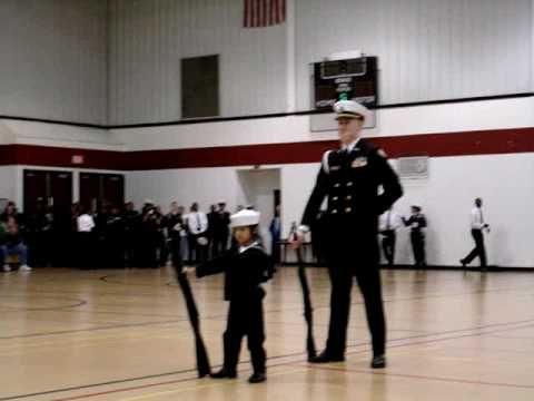 7-yr-old Cadet Niki Batac - NJROTC Armed Drill