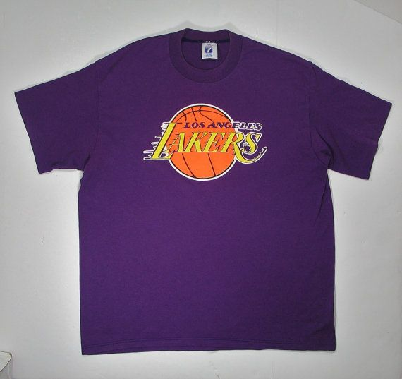 Vintage 80s LA Lakers T Shirt Los Angeles soft by JaybrrdsWhatnots