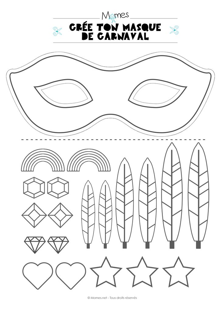 kit pour faire un masque de carnaval masque carnaval pinterest. Black Bedroom Furniture Sets. Home Design Ideas