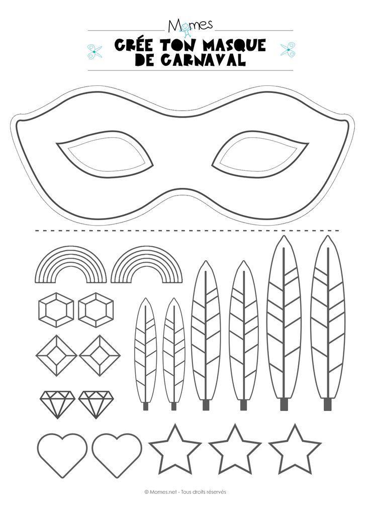 Les 25 meilleures id es de la cat gorie masque carnaval sur pinterest artisanat de carnaval - Masque de carnaval a imprimer ...