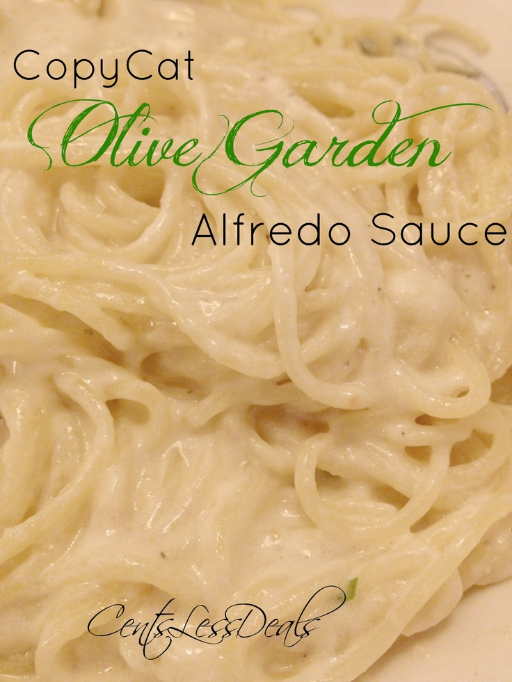 36 best images about pasta on pinterest tacos - Olive garden chicken alfredo sauce recipe ...