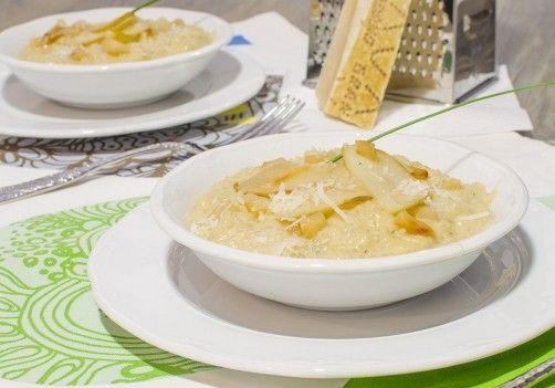 Risotto de pera y gorgonzola para #Mycook http://www.mycook.es/receta/risotto-de-pera-y-gorgonzola/