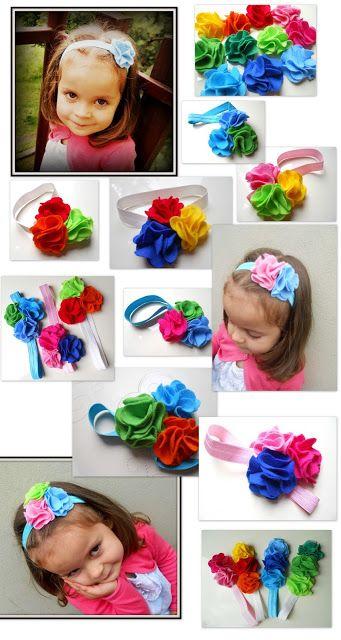 hair band baby diy flower felt