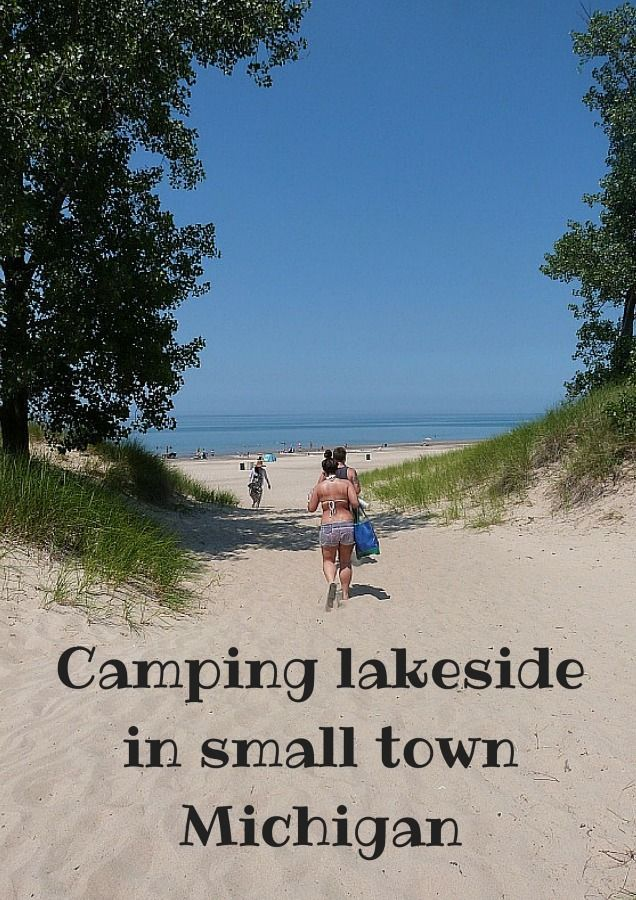 Camping lakeside in small town Michigan via The World on my Necklace