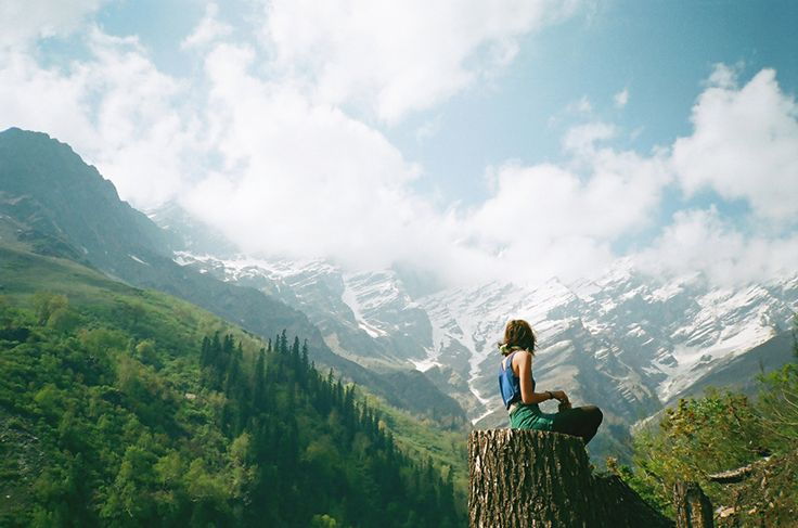 """""""What you're aiming for [with meditation] is the feeling you get when you climb to the top of a mountain, sit down, and take in the view. A feeling of relief."""" - Yongey Mingyur Rinpoche"""