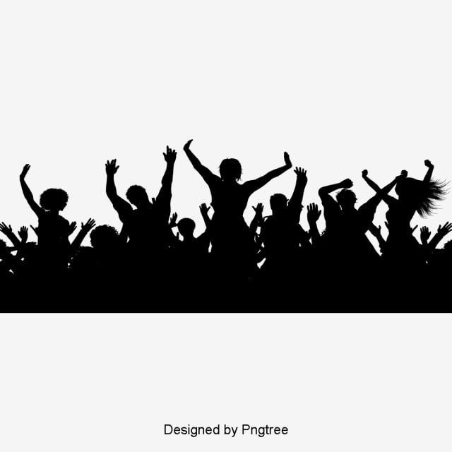Cartoon Carnival Crowd Black Silhouette Element Cartoon Simple Rave Png And Vector With Transparent Background For Free Download Black Silhouette Silhouette Vector City Silhouette