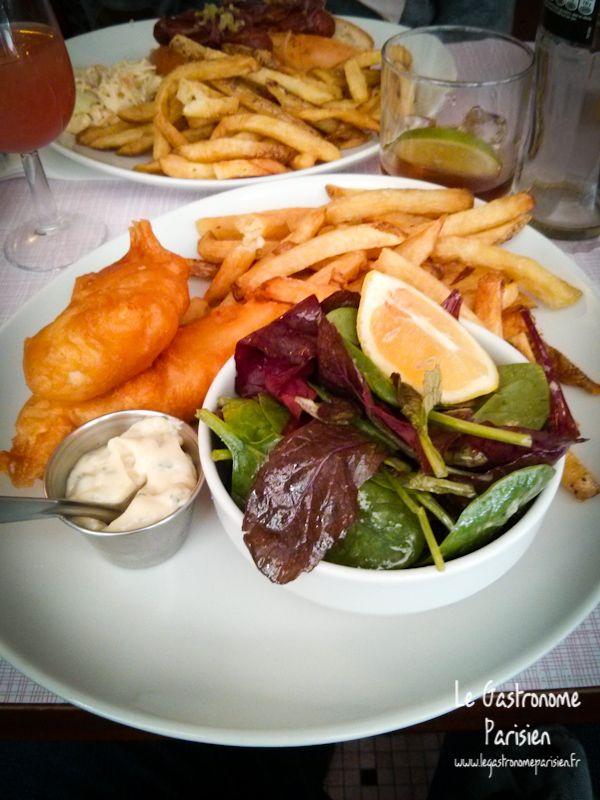 Fish and chips à La Maison Mère 4 Rue de Navarin – Paris 9ème Métro : Saint-Georges Tél. : 01 42 81 11 00 Ouvert du Lundi au Samedi de 12h à 15h et de 19h à 2H et le Dimanche de 12h à 16h