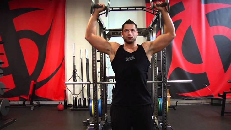 Dumbbell Cuban Press, coached by Christian Thibaudeau