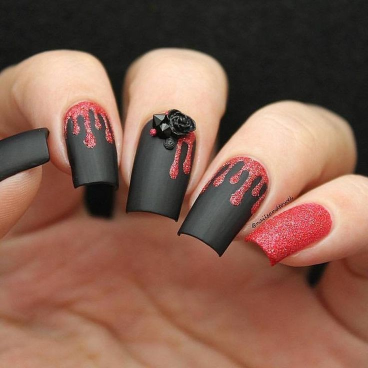 Slime Drips Stencils for Nails Halloween Nail Stickers ...