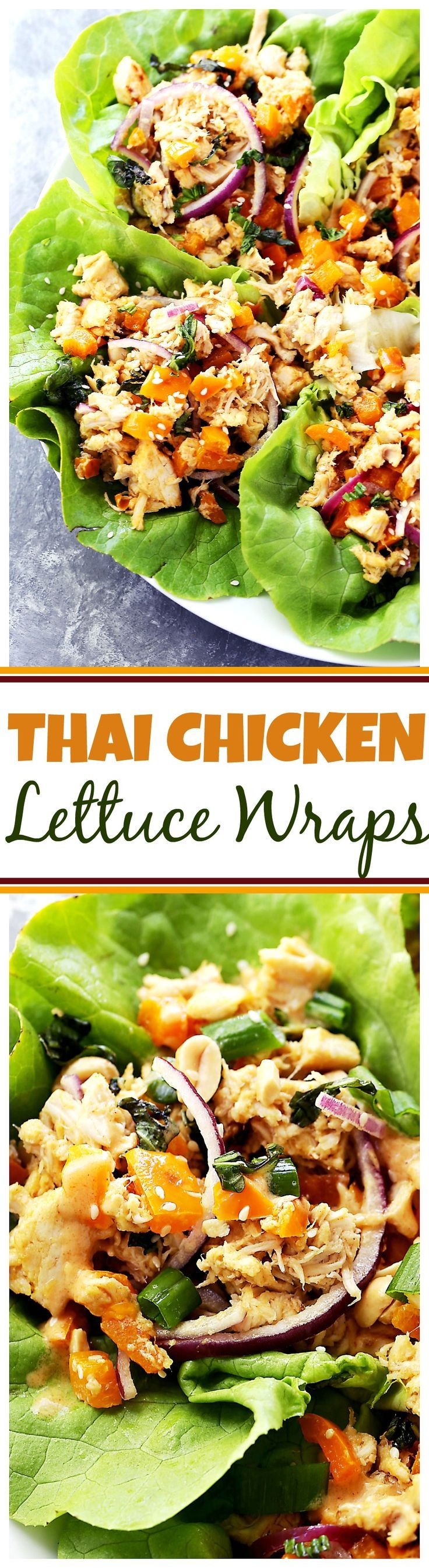 Thai Chicken Lettuce Wraps - Quick and easy Chicken Lettuce Wraps tossed in an incredible Peanut Sauce make for a great weeknight meal option that's full of flavor!  #BePicky #FeedFeed: