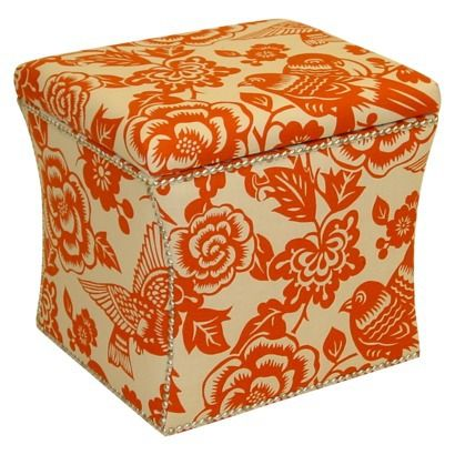 Storage Box for front roomDecor, Nails Buttons, Storage Ottoman, Orange Crushes, Canary Nails, Living Room, Room Ideas, Canary Storage, Buttons Storage