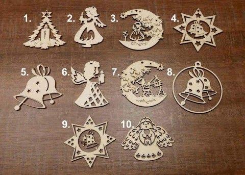 Simira - Vánoční ozdoby 10ks - stickywood