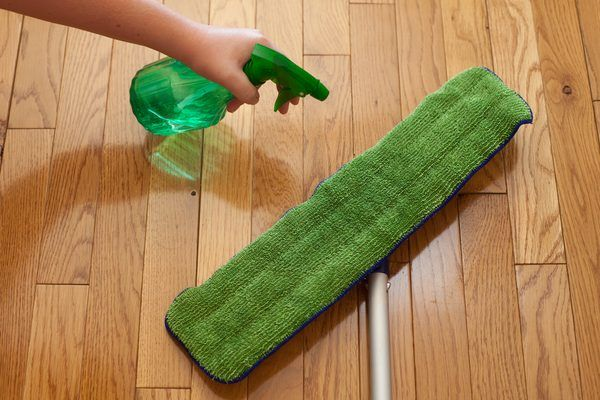 Laminate floors require special care when you're mopping them: Specifically, keep the floor as dry as possible and avoid using oily, waxy floor-care products, oil soaps and similar cleaners that may work well on other types of floors. A combination of dry and damp mopping keeps a laminate floor looking its best.
