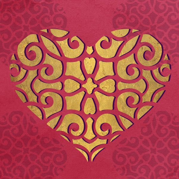 Love is in the air! Get swept off your feel with romantic wall decor with our Lace Heart Wall Stencil. This Lace Heart craft stencil is perfectly sized for DIY,