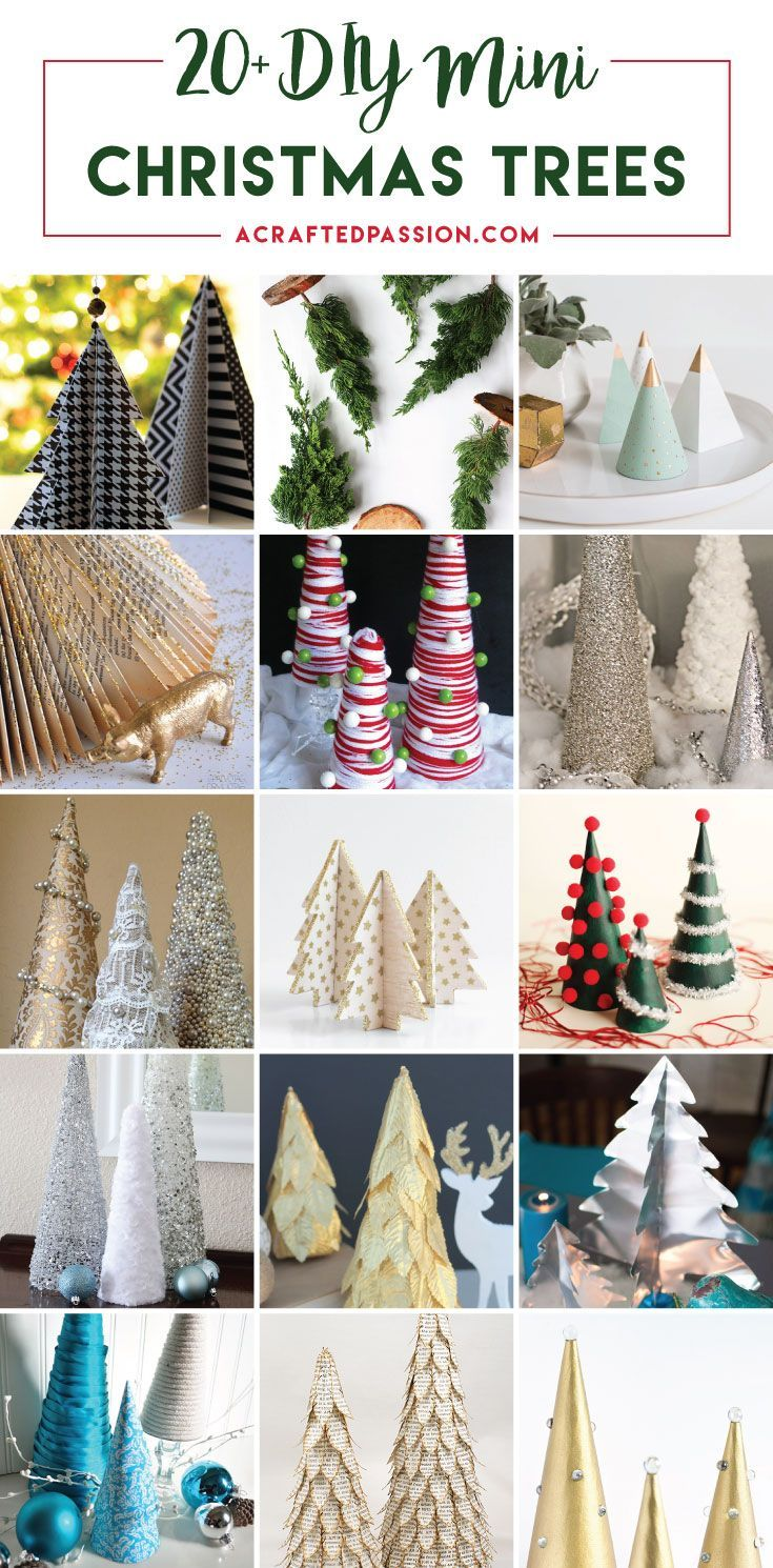 20+ DIY Mini Christmas Tree Decor Ideas  Make these simple mini Christmas trees perfect to include every year with your Christmas decorations.
