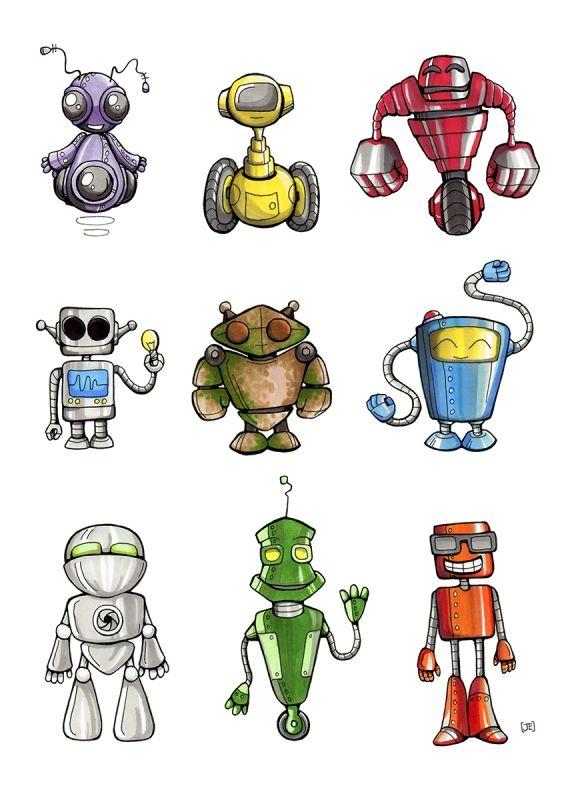 Cartoon Characters As Robots : Robots sketches Поиск в google game characters