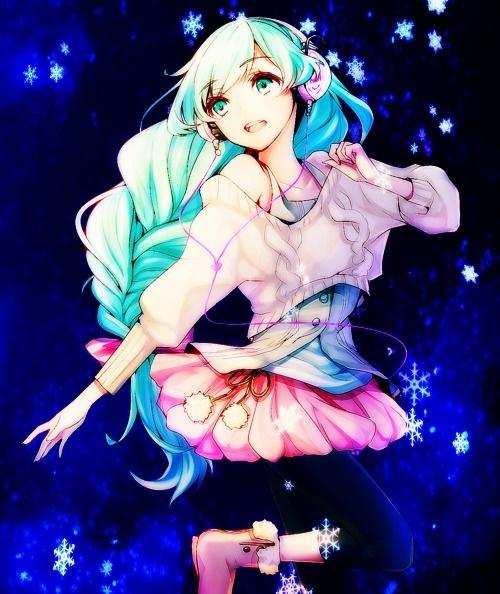 Cette image correspond parfaitement au caractère de Miku dans ma fanfiction Vocaloid :3