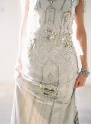 Alder Manor Vintage Wedding | Jenny Packham Wedding Dress, photo by Bryce Covey.