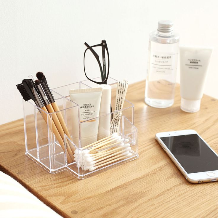 Multifunction Pen Creative Holder Display Stand Clear Acrylic Cosmetic Organizer Makeup Case Sundry Storage makeup organizer-in Storage Boxes & Bins from Home & Garden on Aliexpress.com | Alibaba Group
